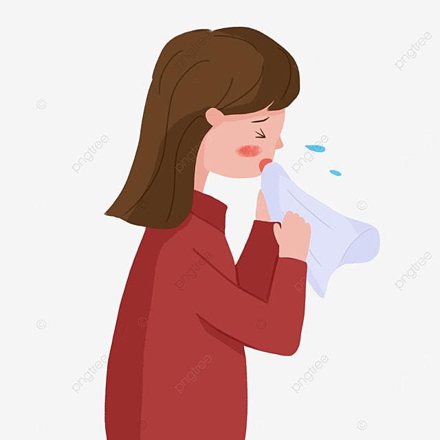 flu cold sneezing girl flu clipart