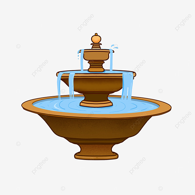 fountain clip art flowing water copper material building