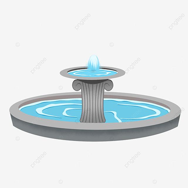 fountain clip art water wave pillar marble european style