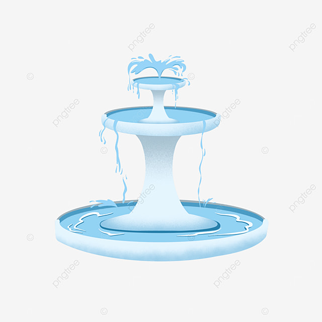 fountain clipart blue marble water splash flowing
