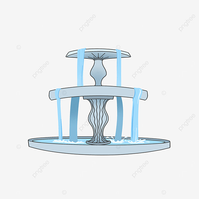 fountain clipart water column blue crafts