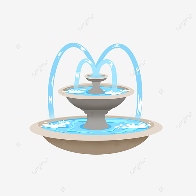 fountain clipart water column marble container