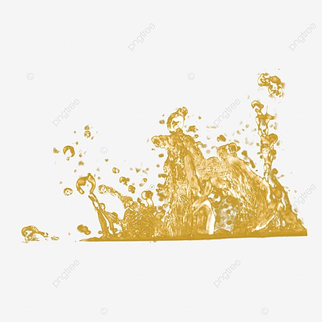 golden liquid splash water splash 3d