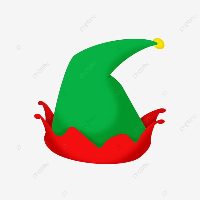 green cartoon christmas elf hat clipart
