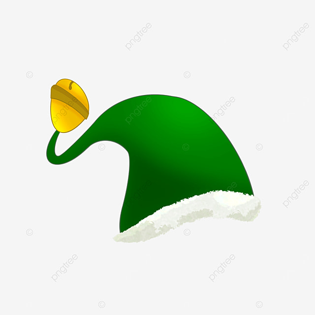 green cartoon elf hat clipart