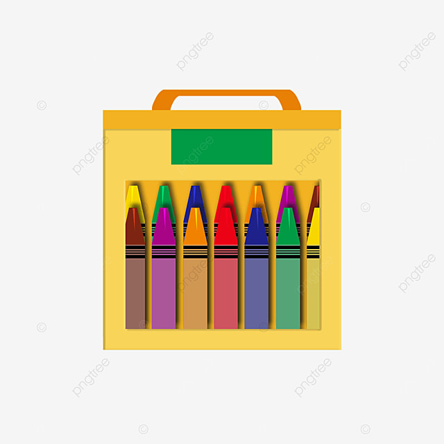 green geometric crayon box clipart