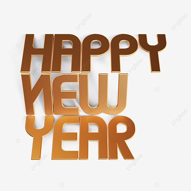 happy new year folded font