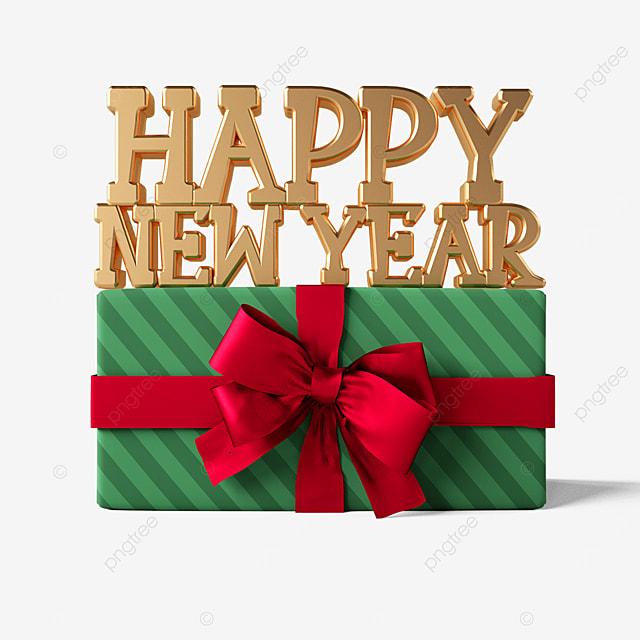 happy new year gift box words