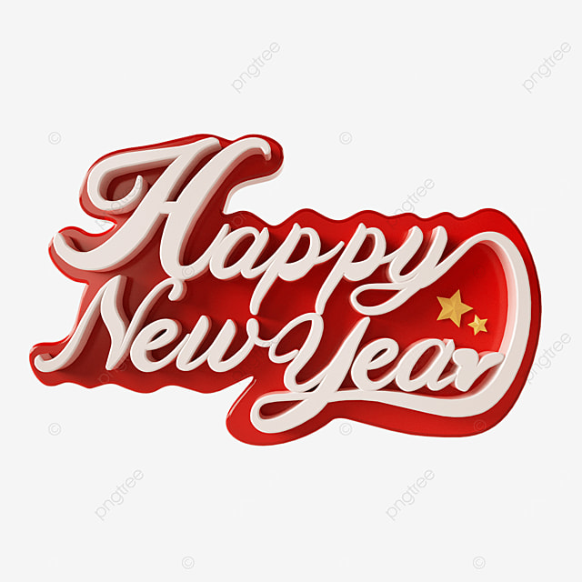 happy new year white lettering