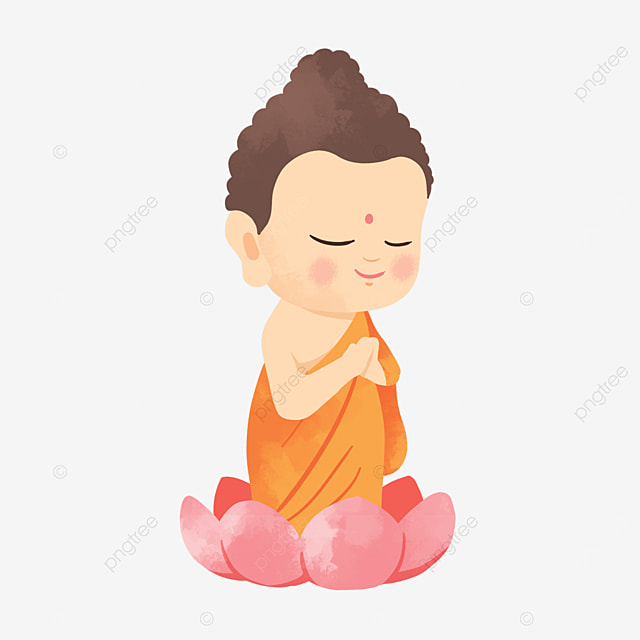 illustration of a textured figure standing on a lotus on the buddhas birthday vesak day