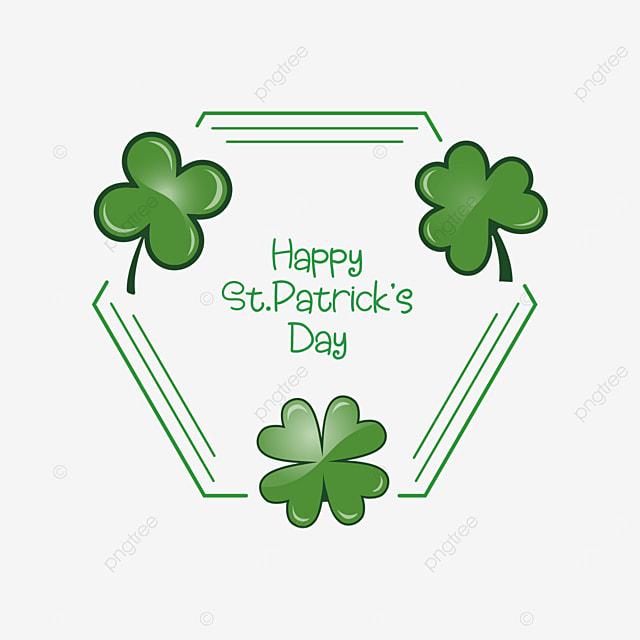 irish green st patricks day border