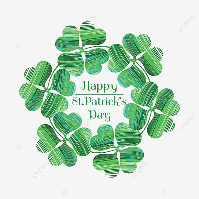 irish st patricks day shamrock border