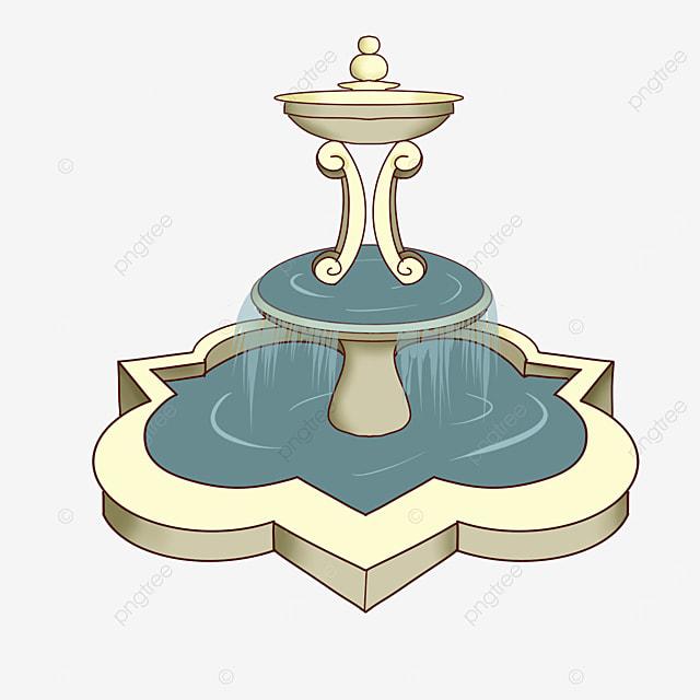 irregular fountain clip art