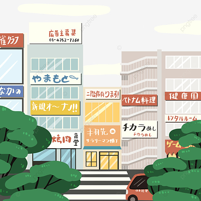 japanese modern architecture street view store