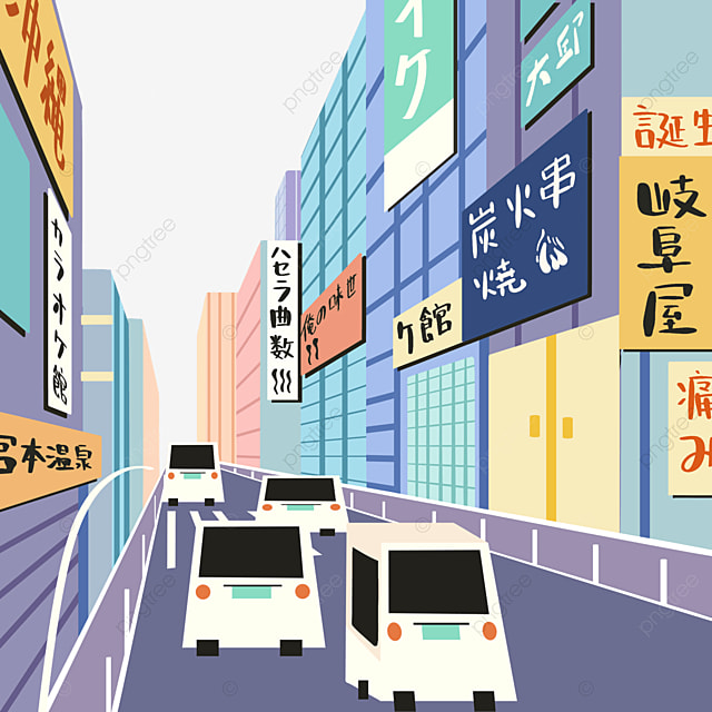 japanese modern colorful street view store