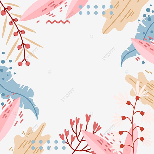 light color plant memphis style border