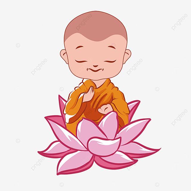 line drawing style lotus character illustration for buddhas birthday vesak day