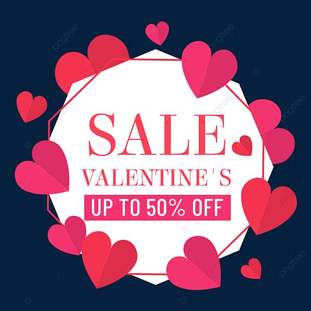 love valentines day promotion border