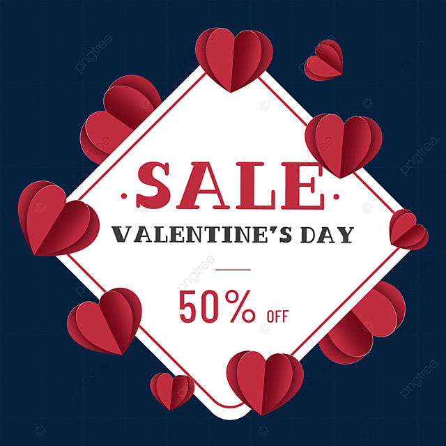 love valentines day promotion border red romantic