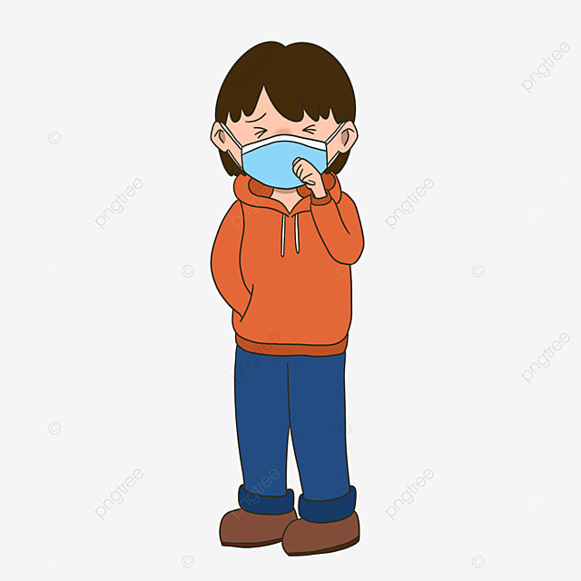 man with flu clipart coughing