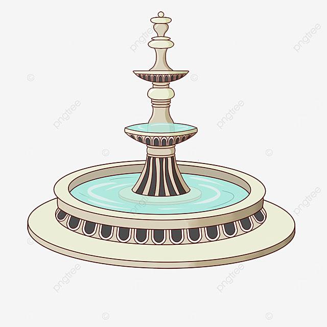marble fountain clip art