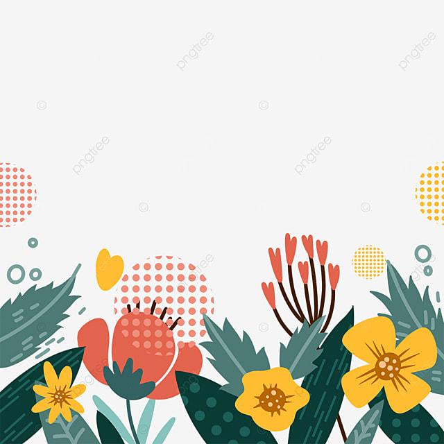 memphis abstract plant border