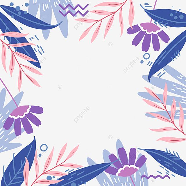 memphis blue purple plant border