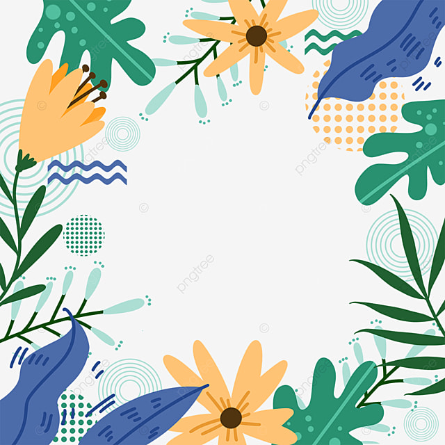memphis creative leaf border