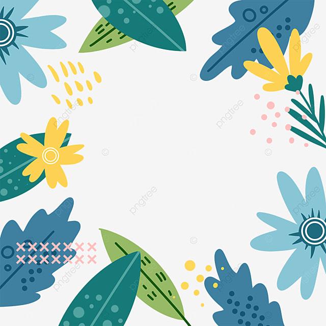 memphis style blue plant border