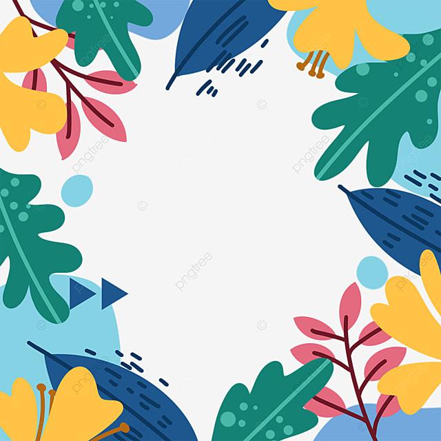 memphis style floral border