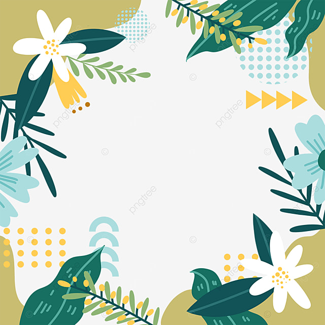 memphis style green plant border