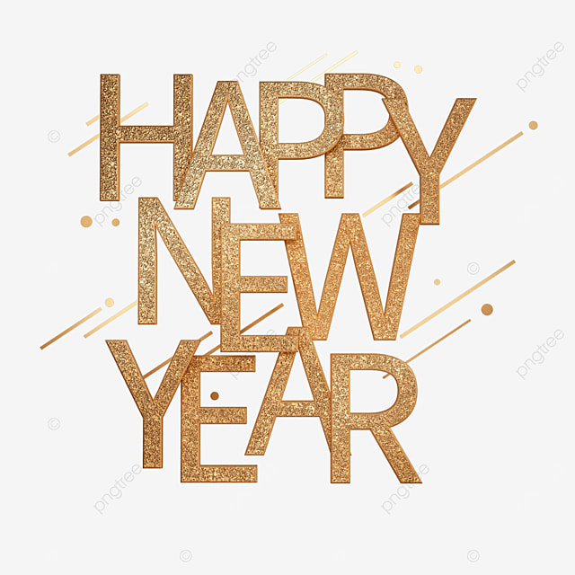 metal texture simple happy new year font