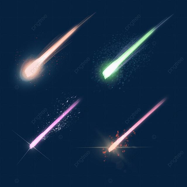meteor ball falling light effect