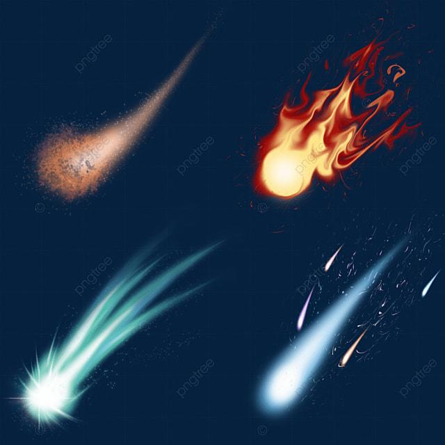 meteor falling light effect map