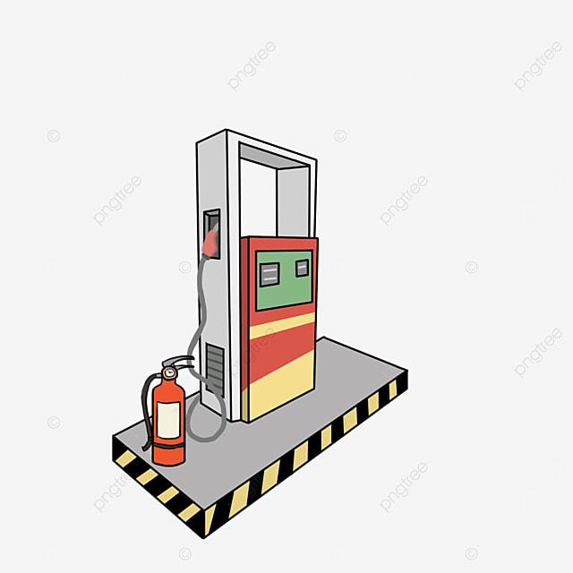 modern gas station clip art