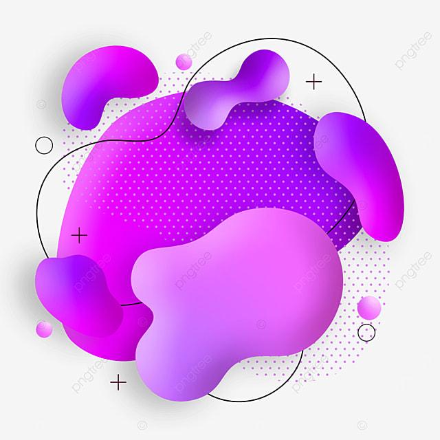 modern style purple gradient abstract memphis border
