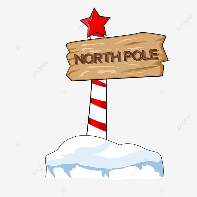 north pole with stars clipart