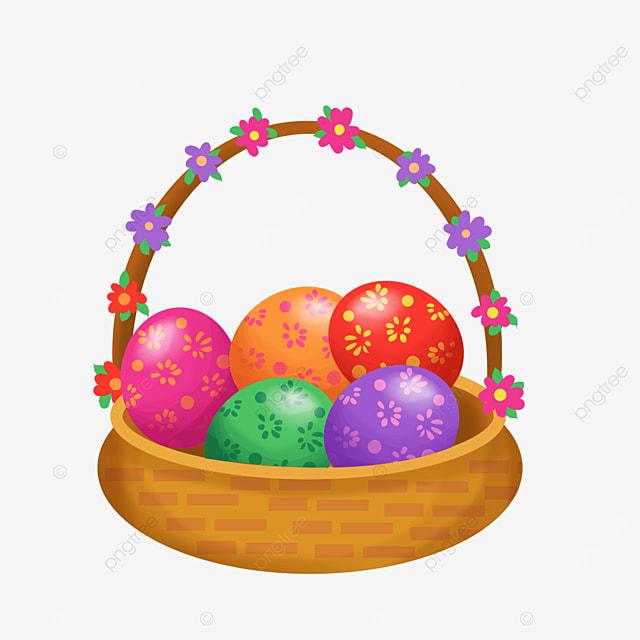 oval easter basket clip art