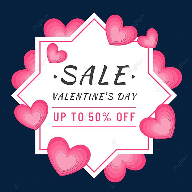paper cut love heart valentine border promotion love