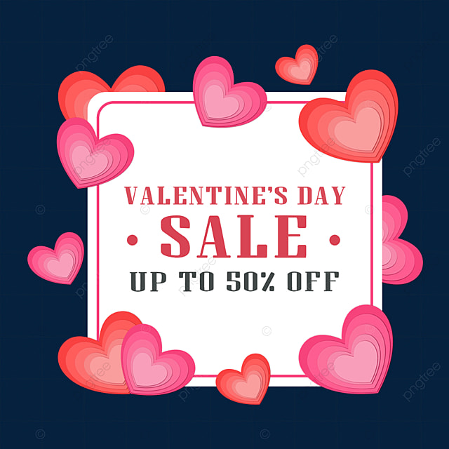 paper cut love heart valentines day promotion border celebrate love