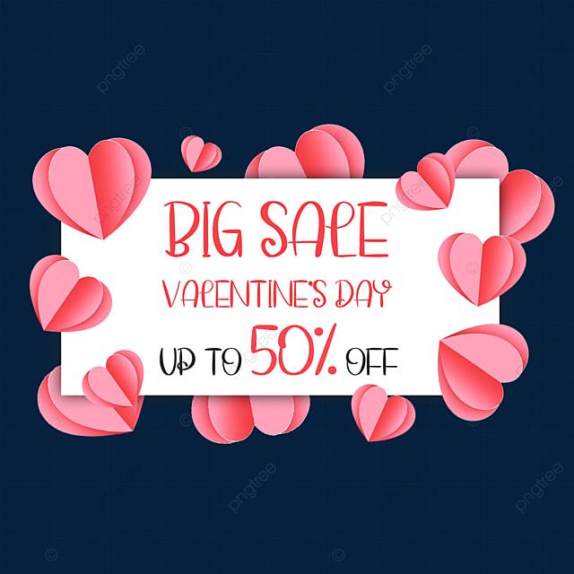 paper cut love valentines day promotion border celebration