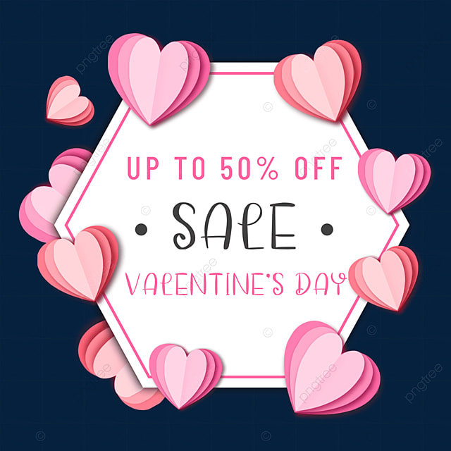 paper cut love valentines day promotion border offer