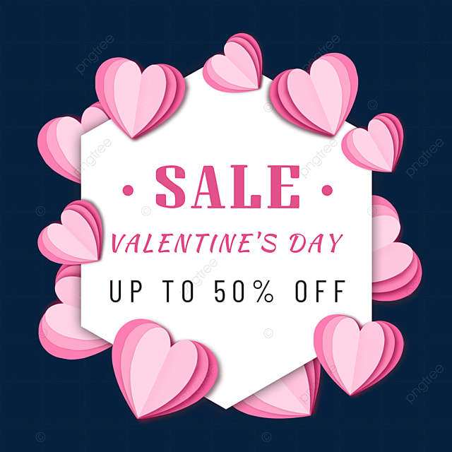 paper cut love valentines day promotion border pink love
