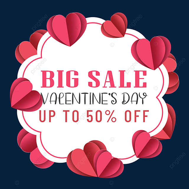 paper cut love valentines day promotion border romantic