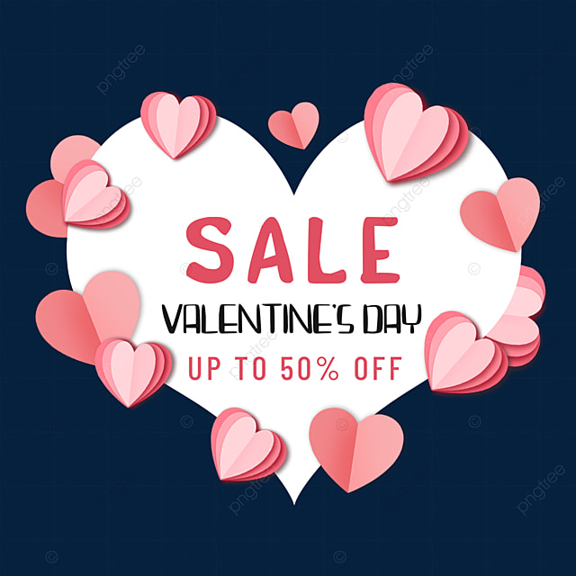 pink love valentines day promotion border love