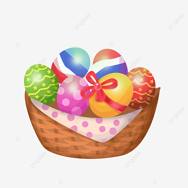 pretty easter basket clipart
