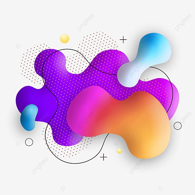 purple and orange fluid texture gradient abstract memphis border