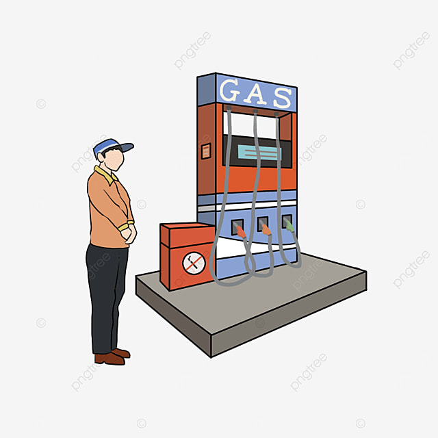 red blue gas station clip art