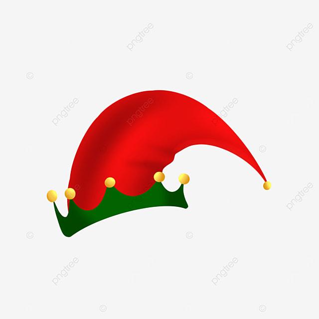 red cartoon elf hat clipart