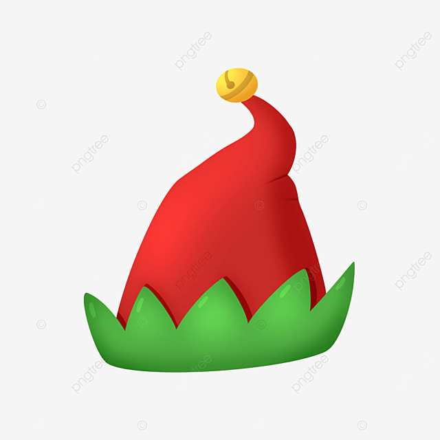 red christmas elf hat clipart
